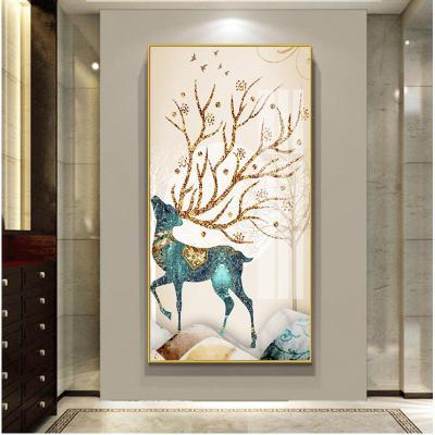 XG-01 100*200cm【適合墻面:寬>140cm】摩登黑鋁 入戶玄關裝飾畫進走廊過道壁畫客廳輕奢掛