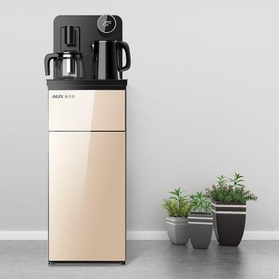 奧克斯/AUX 自營茶吧機 金色 遙控自動上水 溫熱即熱飲水機家用養生茶飲機安全童鎖下置式桶裝水凈水YCB-C