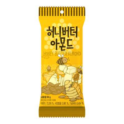 【蜂蜜黄油味】汤姆农?。═om's Farm)蜂蜜黄油味扁桃仁 30g/袋 进口坚果 巴旦木杏仁 休闲零食 韩国进口