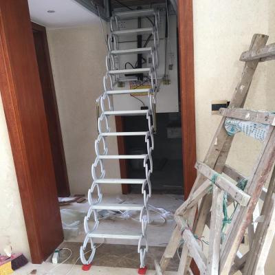 电动阁楼伸缩楼梯别墅复式家用全自动隐形室内升降折伸拉扶手梯子 手动款高配加厚碳钢其它洞口定做