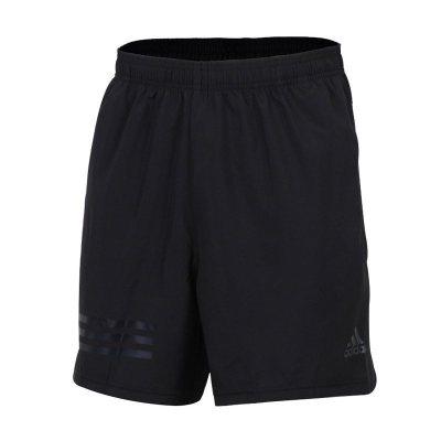 阿迪達斯(adidas)夏季男士系帶梭織透氣運動短褲CD7807