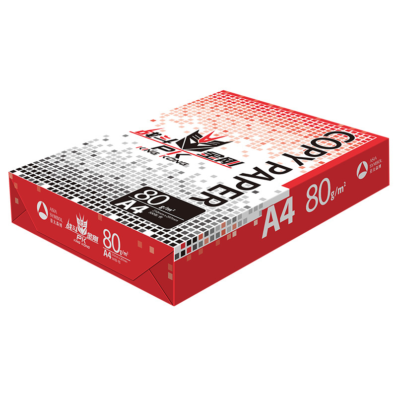 战斗金刚复印纸 A4 80g 5包/箱 500张/包N