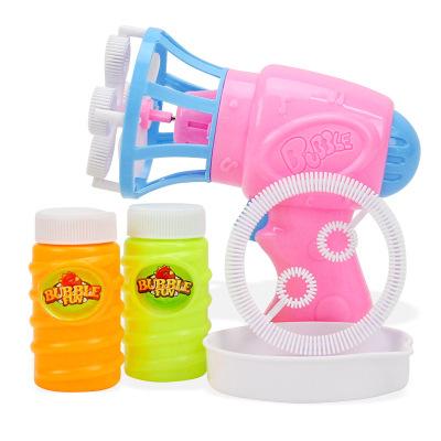 儿童电动泡泡机全自动吹泡泡环保无毒泡泡水补充液泡泡机 装电池款自动泡泡枪颜色随机