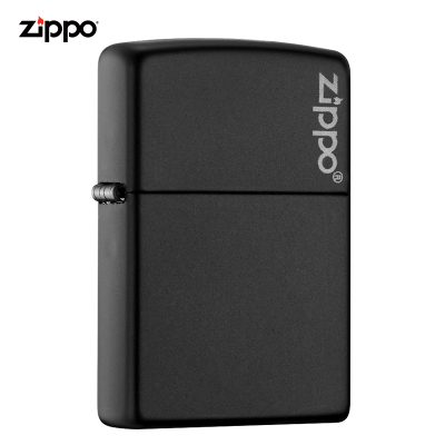 zippo打火機美國原裝ZIPPO打火機黑啞漆商標之寶打火機218ZL-043018