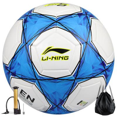 李寧LI-NING足球 5號成人/4號少年兒童PU/PVC材質比賽足球學生訓練手縫足球zuqiu