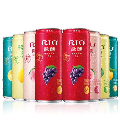 銳澳(RIO)洋酒 雞尾酒 預調酒 微醺系列組合 330ml*8罐(微醺4種口味*2)