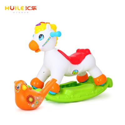 【买摇马赠水鸟】汇乐玩具(HUILE TOYS)快乐摇马987+彩绘水鸟 529