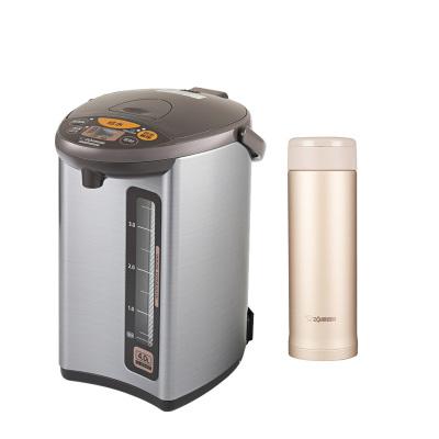 象印(ZO JIRUSHI)电热水瓶WDH40C灰色 4L+保温杯ASE50金色 500ml