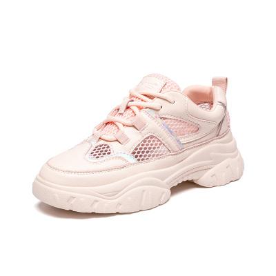 马克华菲女鞋2019年夏季新款透气轻便网面平底休闲运动鞋女鞋
