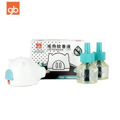 好孩子(gb)猪形电热蚊香液(2瓶液+器) 防蚊驱蚊 可用180晚