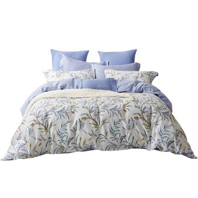 梦洁(MENDALE)家纺 MEE 纯棉印花四件套夏日甜馨 花卉床上用品40支全棉活性印染套件
