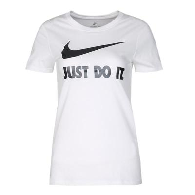 NIKE耐克2018年新款女子AS W NSW TEE CREW JDI SWSH HBRT恤-100