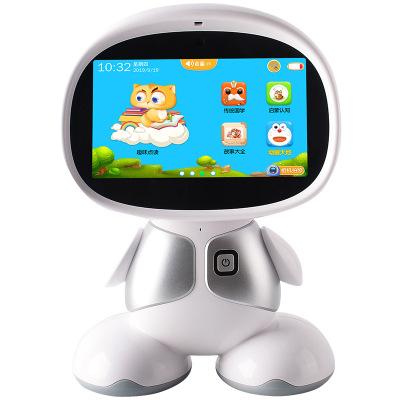 儿童智能WIFI早教机器人故事语音对话智能机器人英语学习陪伴音响早教机PVC迪程