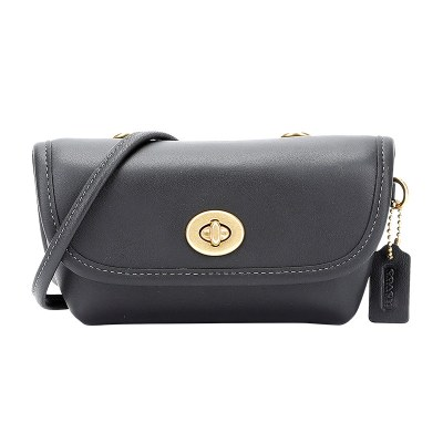 蔻驰 COACH 奢侈品 女士专柜款Originals系列皮质单肩斜挎包腰包 315 B4/BK 欧美时尚