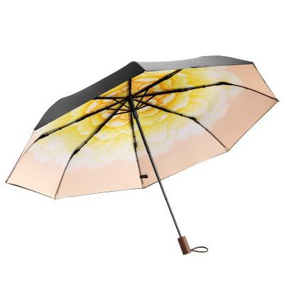 BANANAUNDER蕉下晴雪防晒小黑伞折叠晴雨伞女防紫外线太阳遮阳伞