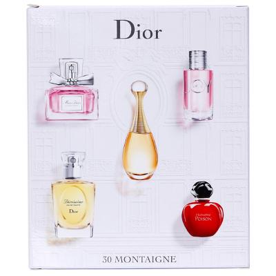 Dior迪奥香水五件套装Q版礼盒情人礼物(迪奥之韵+真我+永恒的爱+甜心+红毒) 香氛套装
