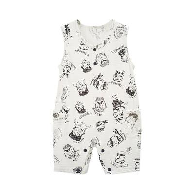 婴姿坊儿童夏季新品男女通用连体衣哈衣爬爬服休闲舒适透气内衣