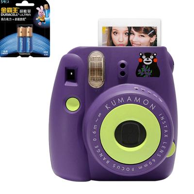【套餐】富士(FUJIFILM)INSTAX 一次成像相机 MINI8 相机 熊本熊 紫色+金霸王5号电池2粒装
