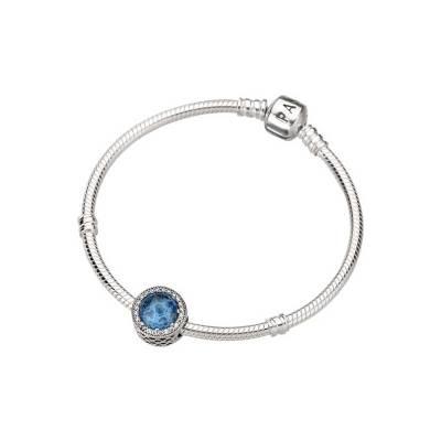 情人节礼物 潘多拉(PANDORA) 冰女神之眼手链  925银