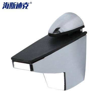 海斯迪克 gnjz-123 锌合金可调玻璃夹 玻璃托 玻璃卡夹子固定托鱼嘴夹 隔板层板夹配件 2个 中号(亮光)