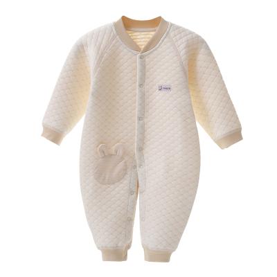 亿婴儿 婴儿连体衣秋冬保暖内衣加厚彩棉新生儿衣服初生内衣宝宝爬服哈衣2280