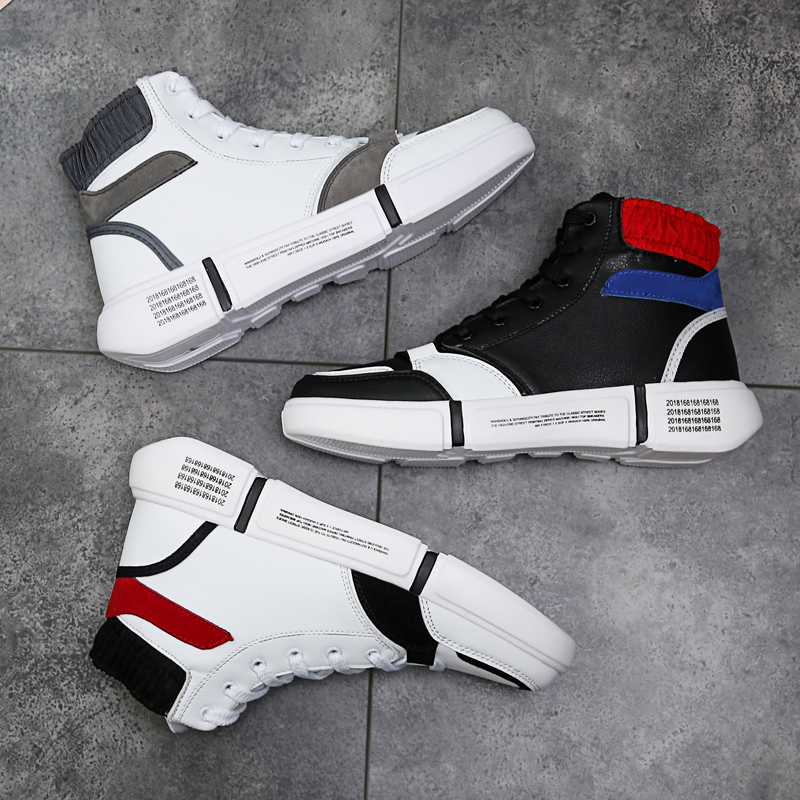 X-MAN2019春季新款韩版百搭男士高帮鞋板鞋休闲潮鞋学生潮流运动休闲鞋春秋款ZT8903