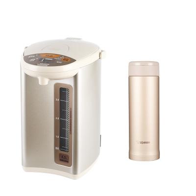 象印(ZO JIRUSHI)电热水瓶WDH40C米色 4L+保温杯ASE50金色 500ml