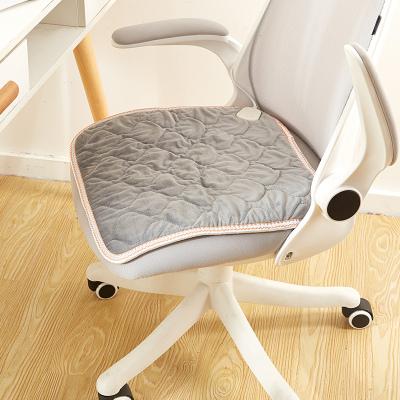 北极绒 坐垫 办公室电加热椅垫小电热毯坐垫座椅加热垫电热椅垫 灰色 45*45cm