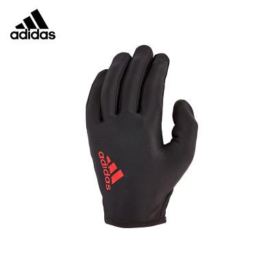 Adidas阿迪达斯登山手套男士冬季户外骑行健身防滑可调节护掌通风网背吸汗干爽绒面轻松拆卸全指手套