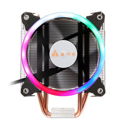 金河田北极玄冰400plus台式机电脑intelCPU散热器静音风扇775/115X/1151