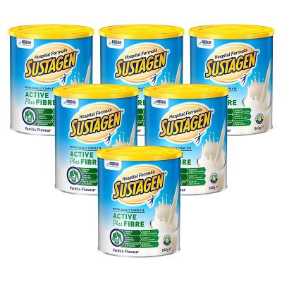 雀巢(Nestle)Sustagen孕妇高纤维蛋白奶粉医院配方香草味840g*6罐 直邮5-15个工作日