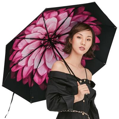 BANANAUNDER蕉下防晒小黑伞折叠晴雨伞女焦下防紫外线太阳遮阳伞