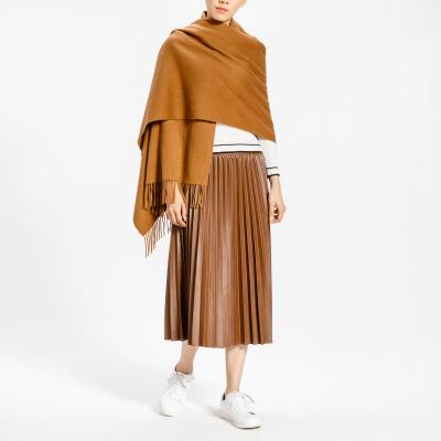 鄂尔多斯ERDOS 纯山羊绒保暖女式围巾披肩