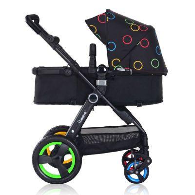 Ibelieve爱贝丽婴儿推车高景观多功能双向坐躺带避震易折叠0-36月宝宝适用承重15KG以上