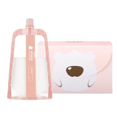 小白熊多功能母乳储存袋储奶袋保鲜袋可存果汁粉色09778 150ml*30片