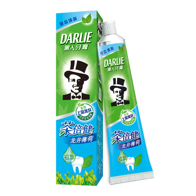 黑人(DARLIE)茶倍健龙井薄荷牙膏 140g
