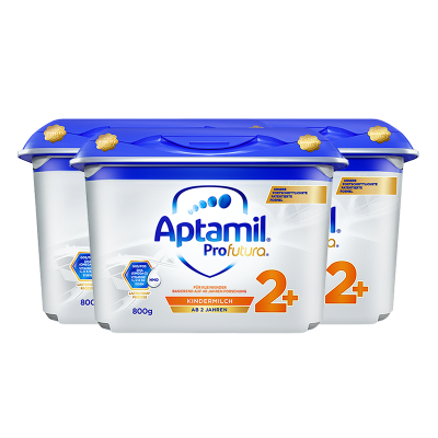 【3罐装特惠】Aptamil 白金版德国爱他美进口婴幼儿2+段奶粉(2岁以上) 800g/罐 保税区发货