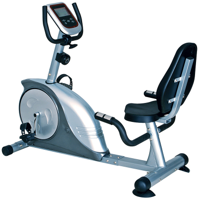正品康乐佳健身车KLJ-8604R卧式磁控静音靠背室内运动健身器材