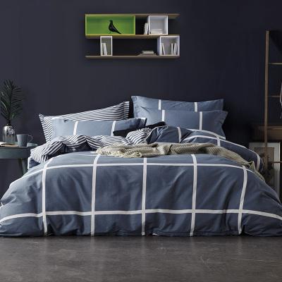 迎馨 全棉三件套纯棉套件学生宿舍床单枕套被罩单人床上用品套件