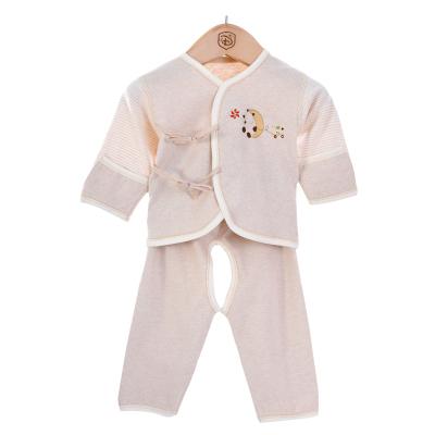 亿婴儿 婴儿衣服新生儿内衣彩棉偏襟初生宝宝和服套装两件套装3012