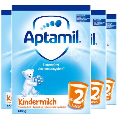 4罐装 【均衡营养】Aptamil 德国爱他美 儿童配方奶粉 易乐罐 2+段/5段(2岁以上)600g/罐 纸盒装