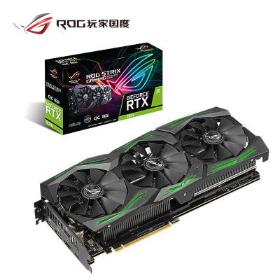 华硕(ASUS)ROG-STRIX-GeForce RTX2070-O8G-GAMING猛禽游戏电竞专业显卡 8G