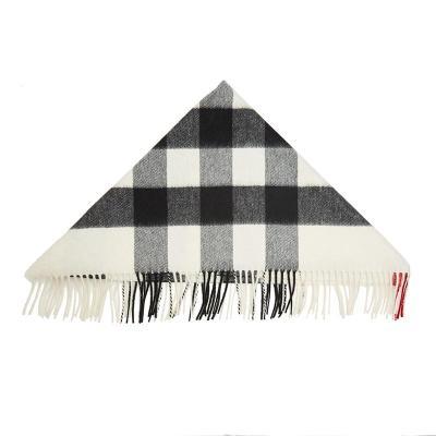 BURBERRY 博柏利 女士格纹山羊绒围巾 80155181