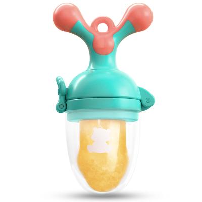 小白熊(XIAOBAIXIONG)宝宝咬咬玩具袋婴儿牙胶 PP 食品级硅胶 11*4.5*5(绿棕)09091