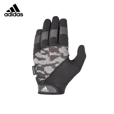 Adidas阿迪达斯登山手套男士冬季户外骑行健身防滑可调节支撑护掌护腕通风干爽绒面可手机触屏全指手套