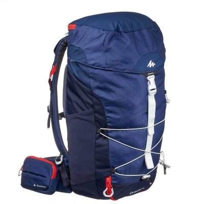 迪卡侬户外双肩背包男大容积徒步女登山旅行运动包20LQUMH 蓝色 20升【定制】【定制】【定制】