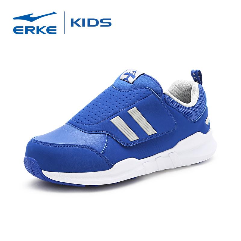 鸿星尔克(ERKE)童鞋儿童运动鞋中大男童秋冬新款魔术贴飞机鞋休闲跑鞋