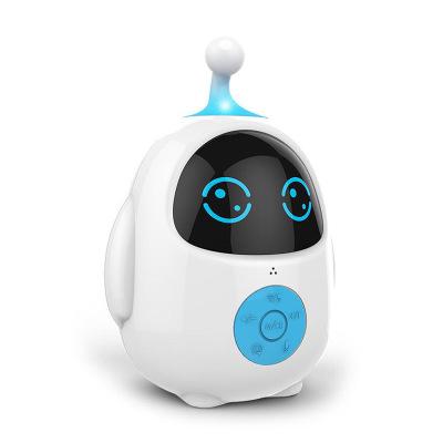 小琪XIAOQI Q蛋PVC早教机智能机器人对话语音高科技玩具儿童男女孩学习教育WIFI连接早教机器人 白蓝色