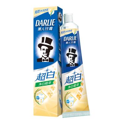 黑人(DARLIE) 超白净白稻萃牙膏140g