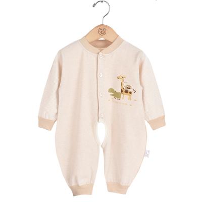 亿婴儿 婴儿连体衣春秋季婴儿衣服宝宝内衣彩棉对开哈衣爬服3019